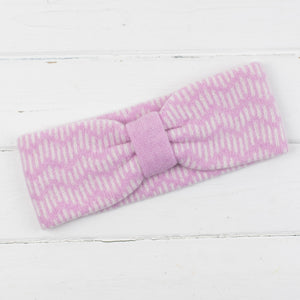 Zig zag headband - pink and white
