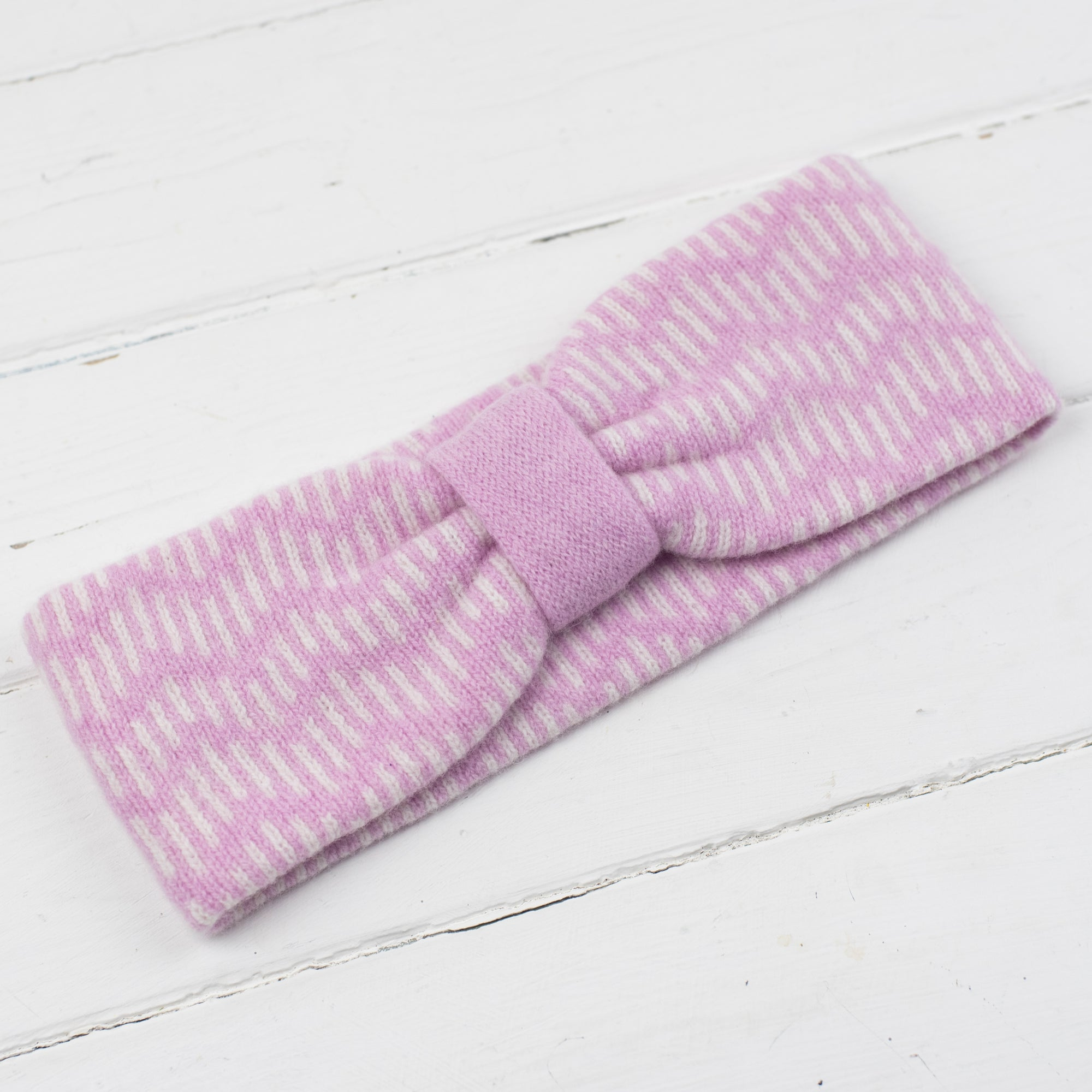 SAMPLE SALE Zig zag headband - pink and white