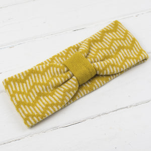 Zig zag headband - piccalilli and cream