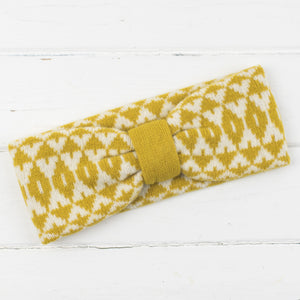 Mirror headband - piccalilli and cream