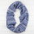 Mirror circle scarf - purple and grey