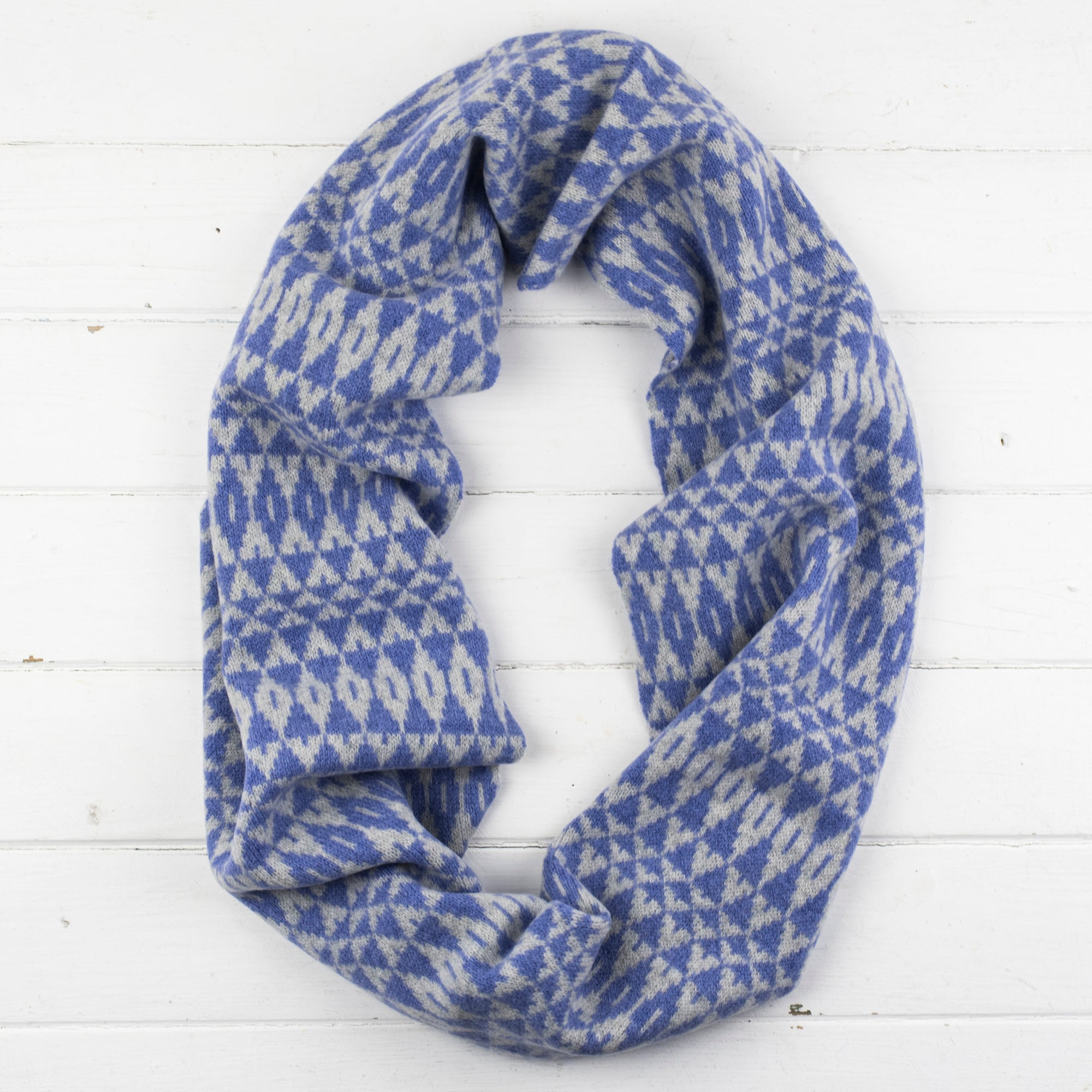 SAMPLE SALE Mirror circle scarf - purple and grey