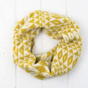 Mirror cowl, headband + wristwarmers set - piccalilli and cream