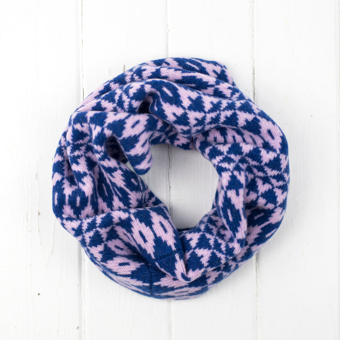 Mirror snood / cowl - pink and blue