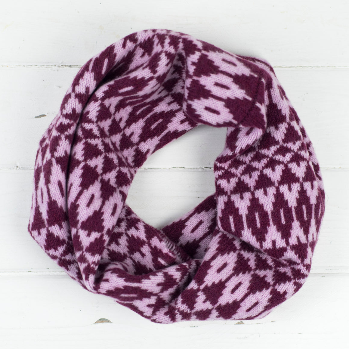 Mirror snood / cowl - bright pink