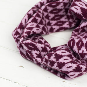 Mirror snood / cowl - berry