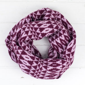 Mirror circle scarf - berry