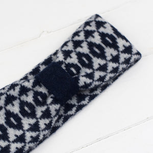 Mirror headband - navy and grey