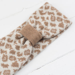 Leopard headband - cream