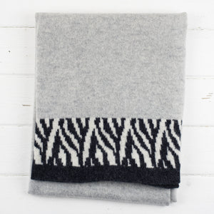 Zebra knitted wrap