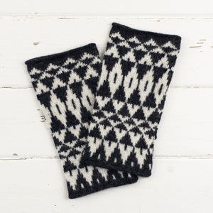 Mirror wristwarmers - monochrome