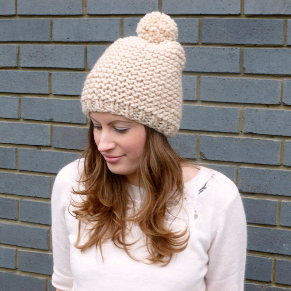 Knitting pattern - pom pom hat