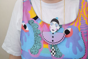 Pierrot Bust Necklace