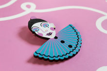 Load image into Gallery viewer, Pierrot Bust Brooch