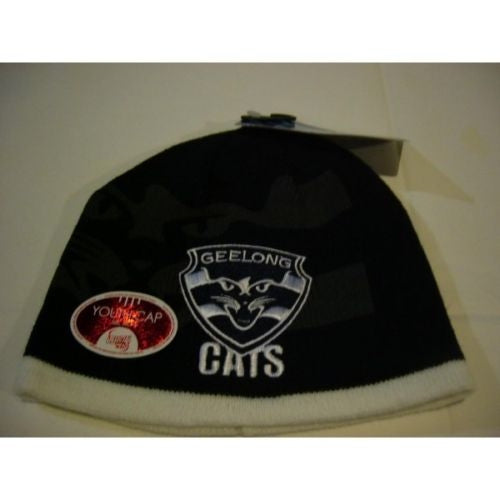 Geelong Cats Official AFL Youth Winter Beanie One Size