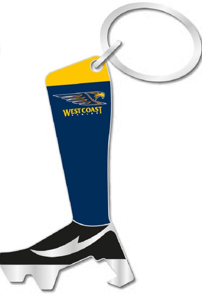 West Coast Eagles Official AFL Boot Bottle Opener Keyring Licensed