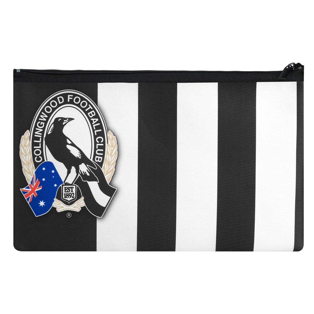 Collingwood Magpies Official AFL Neoprene Team Song Pencil Case