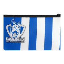 Load image into Gallery viewer, North Melbourne Kangaroos Official AFL Neoprene Team Song Pencil Case