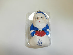North Melbourne Kangaroos Official AFL Ceramic Christmas Tree Santa Decorations