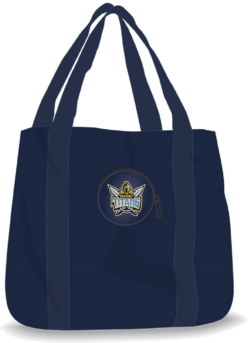 Gold Coast Titans Official NRL Foldaway Shopping Tote Bag
