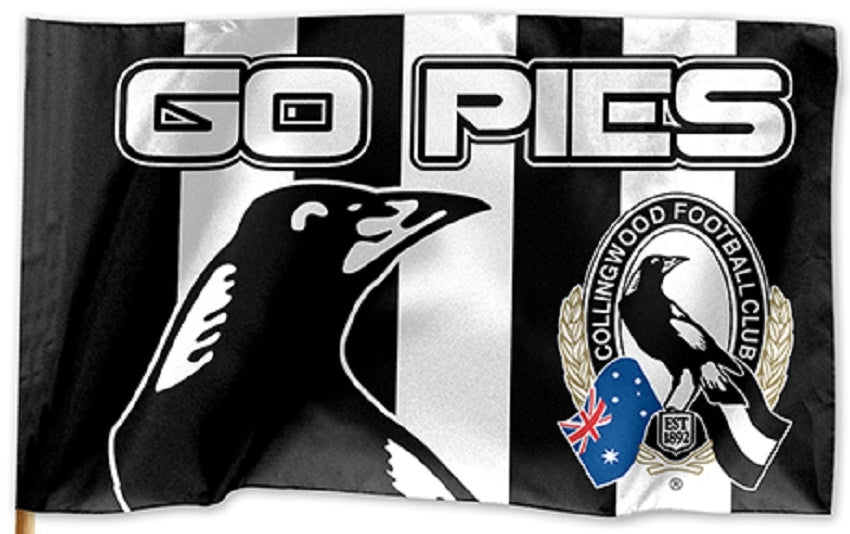Collingwood Magpies Official AFL Game Day Flag 60cm x 90cm