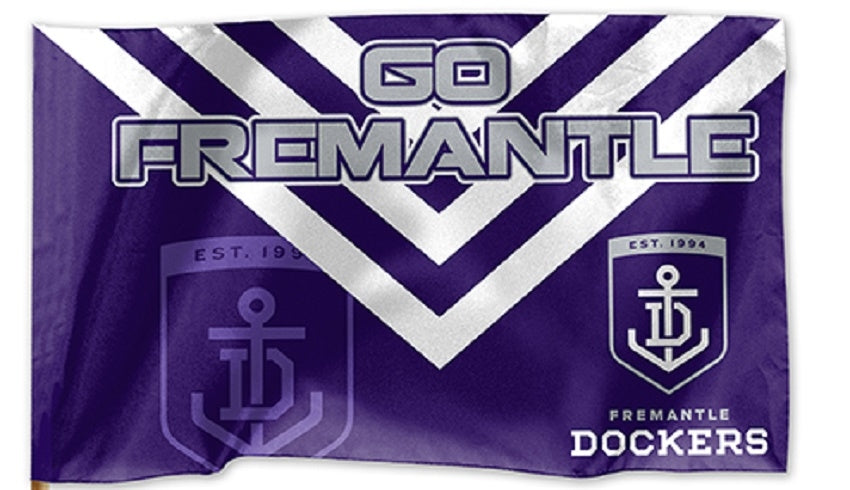 Fremantle Dockers Official AFL Game Day Flag 60cm x 90cm