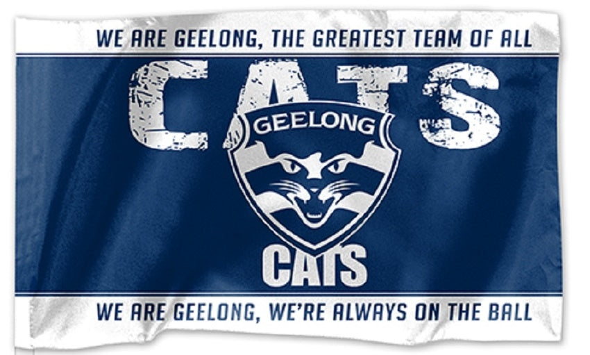 Geelong Cats Official AFL Kids Flag 30cm x 48cm (No Stick) with Tracking