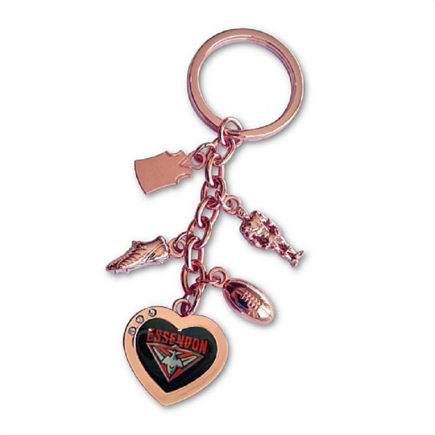 Essendon Bombers Official AFL Charm Keyring Mothers Day