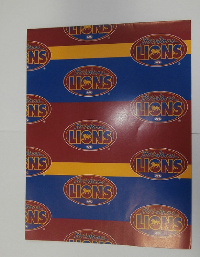 Brisbane Lions Official AFL Wrapping Paper Birthday Giftwrap FREE POST