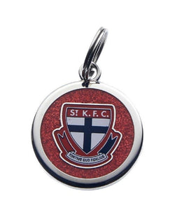 St Kilda Saints Pet Dog Cat Tag Keyring Disc AFL Licensed