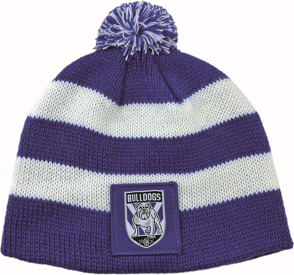 Canterbury Bulldogs Official NRL Chunky Knit Baby Infant Beanie