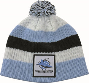 Cronulla Sharks Official NRL Chunky Knit Baby Infant Beanie