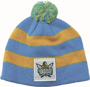 Gold Coast Titans Official NRL Chunky Knit Baby Infant Beanie