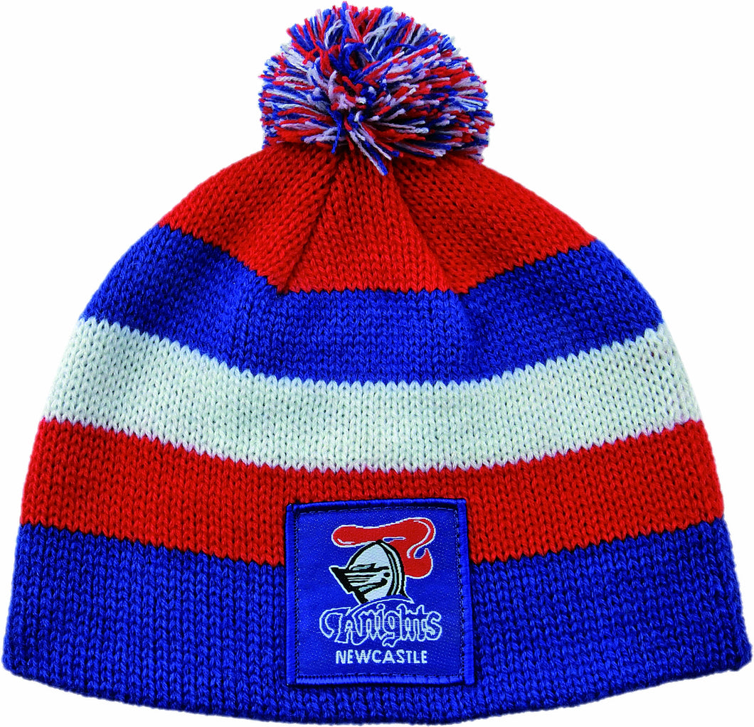 Newcastle Knights Official NRL Chunky Knit Baby Infant Beanie