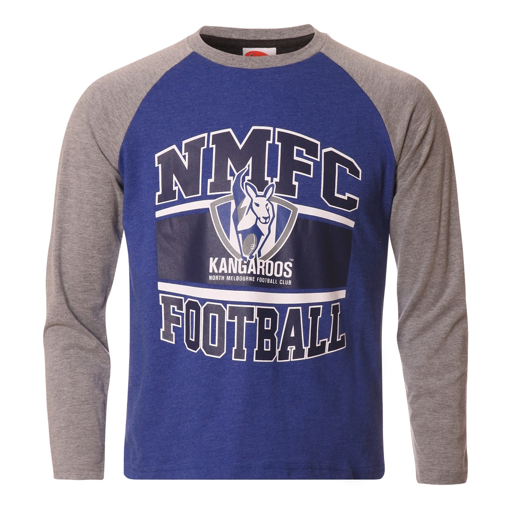 North Melbourne Kangaroos Long Sleeved Youth T-Shirt Official AFL