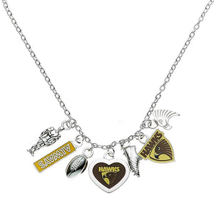 Hawthorn Hawk Official AFL Charm Pendant Necklace Mothers Day