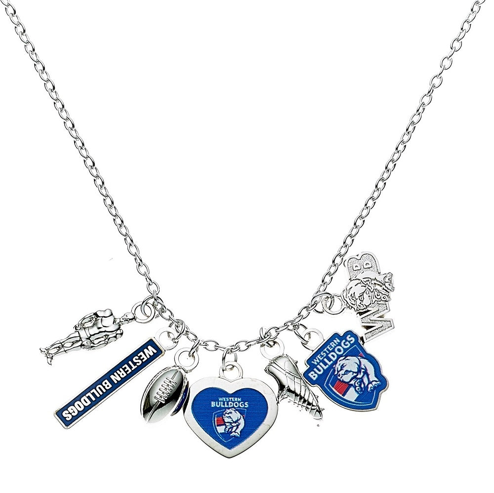 Western Bulldogs Official AFL Charm Pendant Necklace Mothers Day