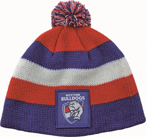 Western Bulldogs Official AFL Chunky Knit Baby Infant Beanie