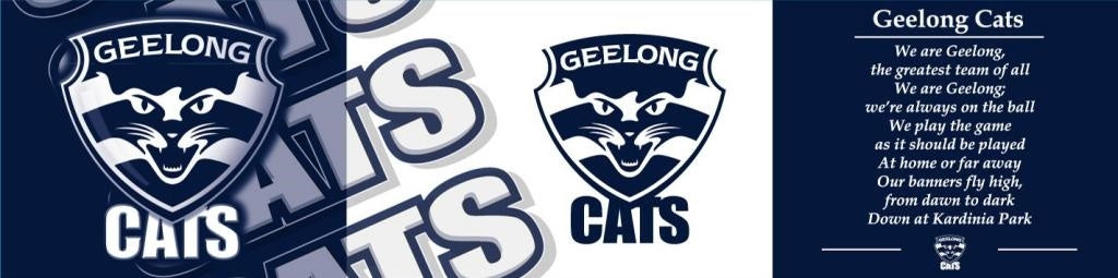 Geelong Cats Rubber Backed Bar Runner Theme Song Official AFL