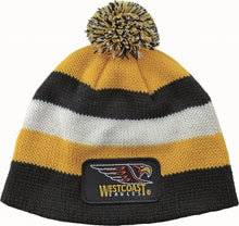 Load image into Gallery viewer, West Coast Eagles Official AFL Chunky Knit Baby Infant Beanie