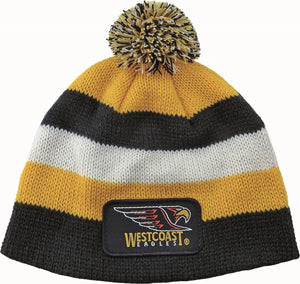 West Coast Eagles Official AFL Chunky Knit Baby Infant Beanie