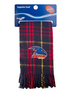 Adelaide Crows Official AFL Embroidered Tartan Scarf
