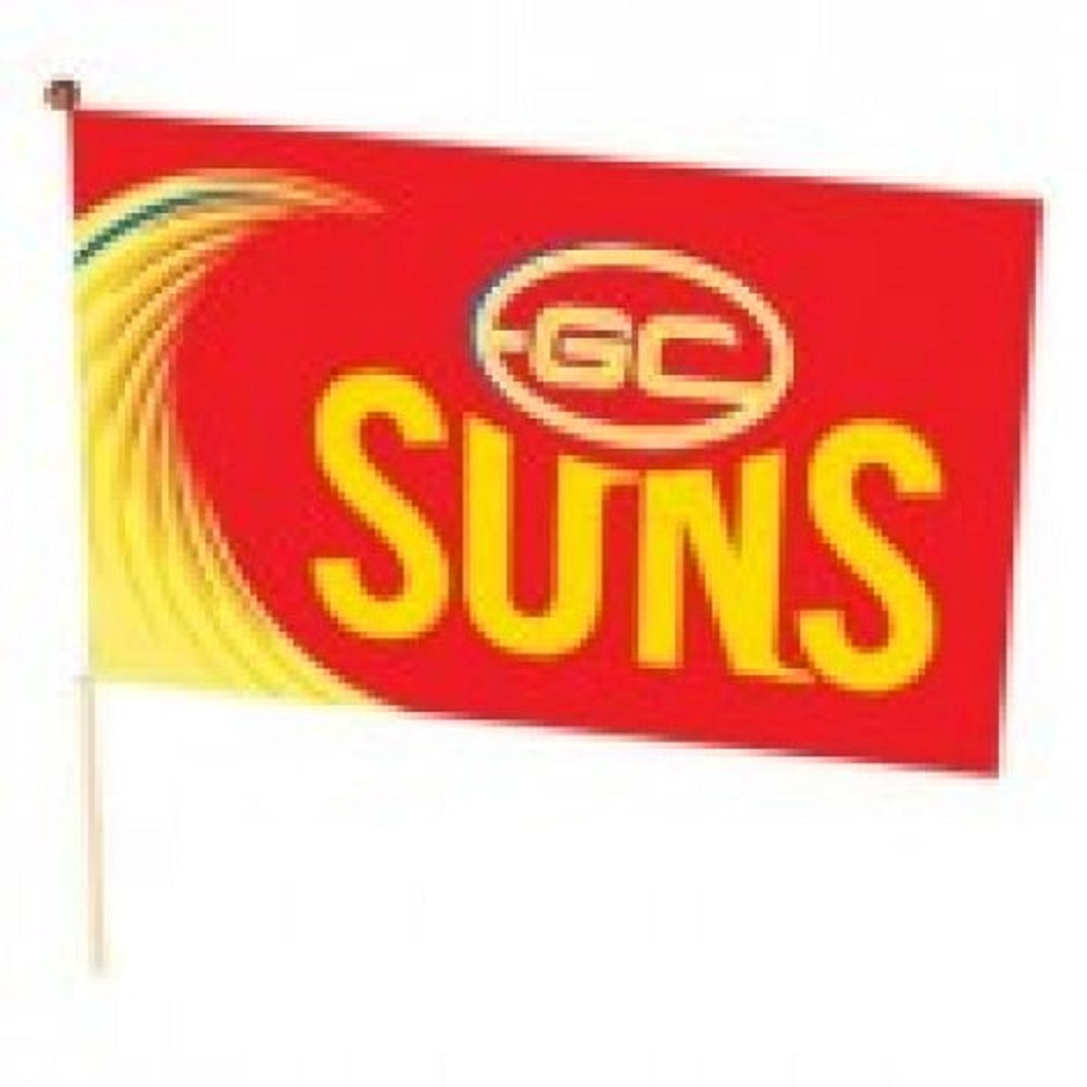 Gold Coast Suns Official AFL Team Logo Medium Flag (No stick) with Tracking