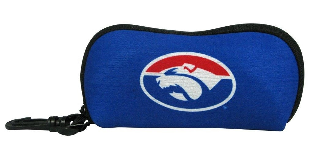 Western Bulldogs Sunglasses Case Official AFL Soft Neoprene