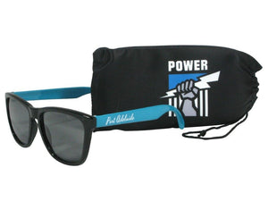 Port Adelaide Power Sunglasses, with Team Logo Official AFL with Soft Case
