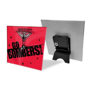 Essendon Bombers Official AFL Mini Glass Desk Clock