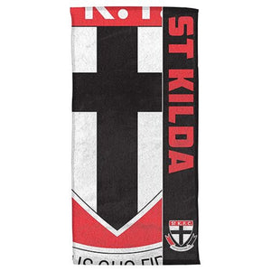 St Kilda Saints Team Logo Official AFL Beach Bath Towel