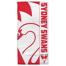 Load image into Gallery viewer, Sydney Swans Official AFL Beach Bath Towel