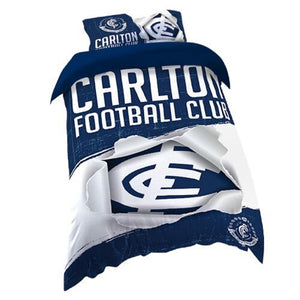 Carlton Blues Official AFL Single Doona Quilt Cover