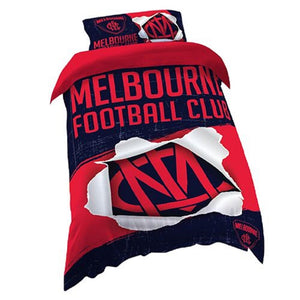 Melbourne Demons Official AFL Single Doona Quilt Cover